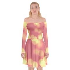 Soft Lights Bokeh 4b Off Shoulder Skater Dress