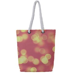 Soft Lights Bokeh 4b Full Print Rope Handle Tote (small)