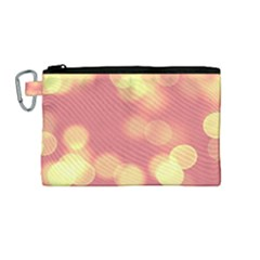 Soft Lights Bokeh 4b Canvas Cosmetic Bag (medium)