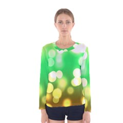 Soft Lights Bokeh 3 Women s Long Sleeve Tee