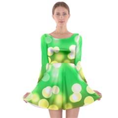 Soft Lights Bokeh 3 Long Sleeve Skater Dress