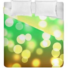 Soft Lights Bokeh 3 Duvet Cover Double Side (king Size)
