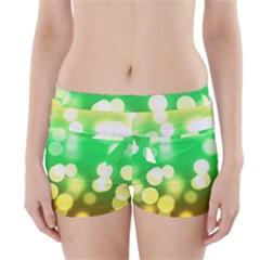 Soft Lights Bokeh 3 Boyleg Bikini Wrap Bottoms