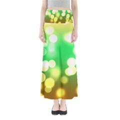 Soft Lights Bokeh 3 Full Length Maxi Skirt
