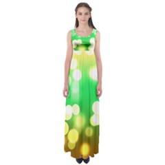 Soft Lights Bokeh 3 Empire Waist Maxi Dress