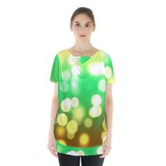 Soft Lights Bokeh 3 Skirt Hem Sports Top