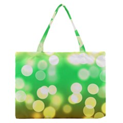 Soft Lights Bokeh 3 Zipper Medium Tote Bag