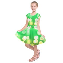 Soft Lights Bokeh 3 Kids  Short Sleeve Dress