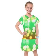 Soft Lights Bokeh 3 Kids  Drop Waist Dress