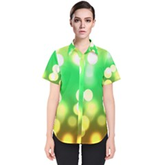 Soft Lights Bokeh 3 Women s Short Sleeve Shirt
