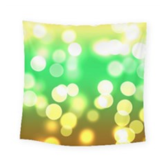 Soft Lights Bokeh 3 Square Tapestry (small)
