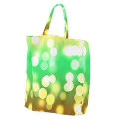 Soft Lights Bokeh 3 Giant Grocery Zipper Tote