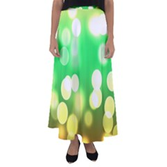 Soft Lights Bokeh 3 Flared Maxi Skirt