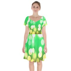 Soft Lights Bokeh 3 Short Sleeve Bardot Dress