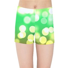 Soft Lights Bokeh 3 Kids Sports Shorts
