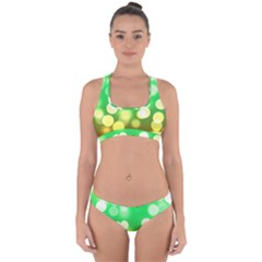Soft Lights Bokeh 3 Cross Back Hipster Bikini Set