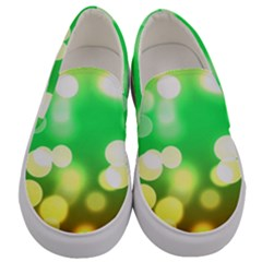Soft Lights Bokeh 3 Men s Canvas Slip Ons