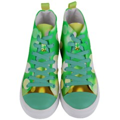 Soft Lights Bokeh 3 Women s Mid Top Canvas Sneakers
