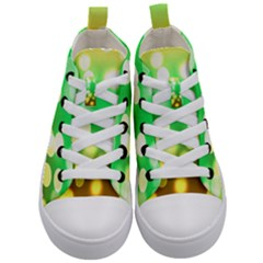 Soft Lights Bokeh 3 Kid s Mid Top Canvas Sneakers
