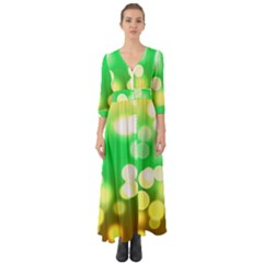 Soft Lights Bokeh 3 Button Up Boho Maxi Dress