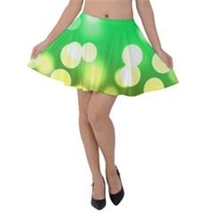 Soft Lights Bokeh 3 Velvet Skater Skirt