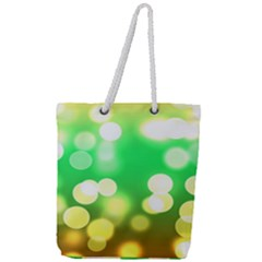 Soft Lights Bokeh 3 Full Print Rope Handle Tote (large)