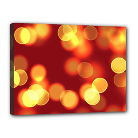 Soft Lights Bokeh 4 Canvas 16  X 12