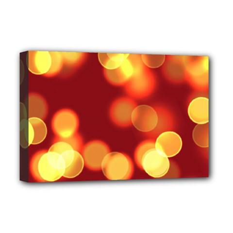 Soft Lights Bokeh 4 Deluxe Canvas 18  X 12