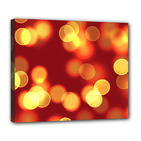 Soft Lights Bokeh 4 Deluxe Canvas 24  X 20