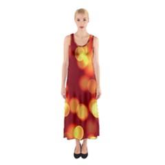 Soft Lights Bokeh 4 Sleeveless Maxi Dress