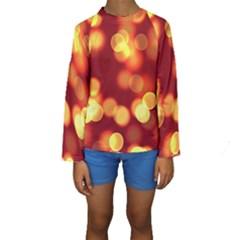 Soft Lights Bokeh 4 Kids  Long Sleeve Swimwear