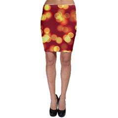 Soft Lights Bokeh 4 Bodycon Skirt