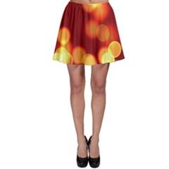 Soft Lights Bokeh 4 Skater Skirt