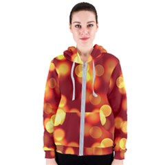 Soft Lights Bokeh 4 Women s Zipper Hoodie