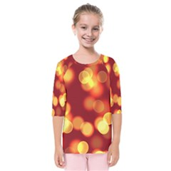 Soft Lights Bokeh 4 Kids  Quarter Sleeve Raglan Tee