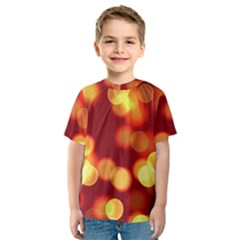 Soft Lights Bokeh 4 Kids  Sport Mesh Tee
