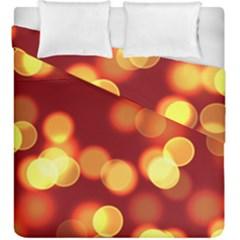 Soft Lights Bokeh 4 Duvet Cover Double Side (king Size)