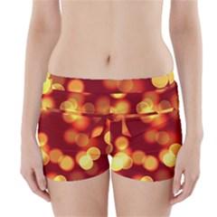 Soft Lights Bokeh 4 Boyleg Bikini Wrap Bottoms