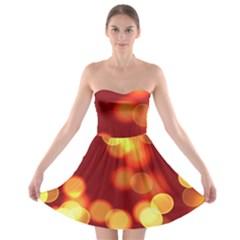 Soft Lights Bokeh 4 Strapless Bra Top Dress