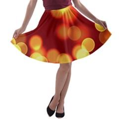 Soft Lights Bokeh 4 A Line Skater Skirt