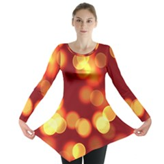 Soft Lights Bokeh 4 Long Sleeve Tunic