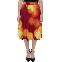 Soft Lights Bokeh 4 Folding Skater Skirt