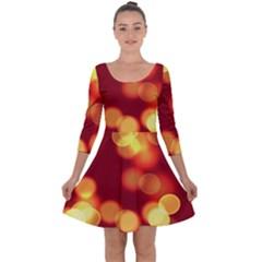Soft Lights Bokeh 4 Quarter Sleeve Skater Dress