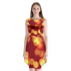 Soft Lights Bokeh 4 Sleeveless Chiffon Dress