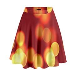 Soft Lights Bokeh 4 High Waist Skirt