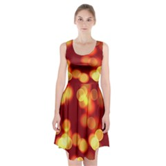 Soft Lights Bokeh 4 Racerback Midi Dress