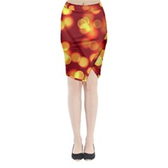 Soft Lights Bokeh 4 Midi Wrap Pencil Skirt
