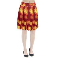 Soft Lights Bokeh 4 Pleated Skirt