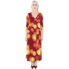 Soft Lights Bokeh 4 Quarter Sleeve Wrap Maxi Dress