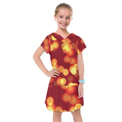 Soft Lights Bokeh 4 Kids  Drop Waist Dress